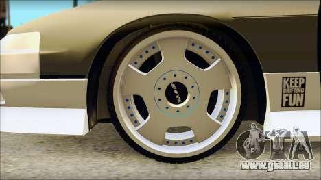 Nissan 240SX für GTA San Andreas zurück linke Ansicht
