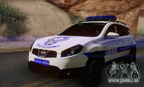 Nissan Qashqai TR POLICE pour GTA San Andreas