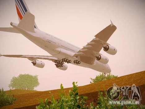 Airbus A380-800 Air France pour GTA San Andreas vue de dessous