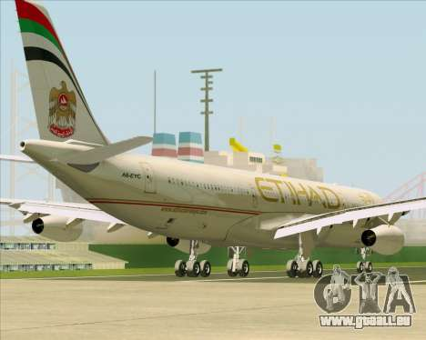 Airbus A340-313 Etihad Airways pour GTA San Andreas roue