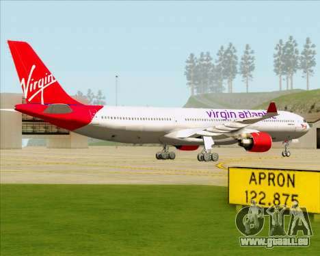 Airbus A330-300 Virgin Atlantic Airways für GTA San Andreas zurück linke Ansicht