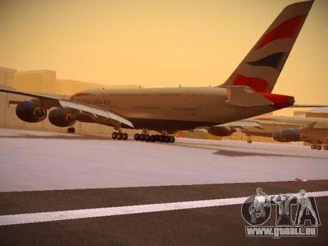 Airbus A380-800 British Airways pour GTA San Andreas vue de côté