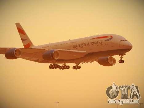 Airbus A380-800 British Airways für GTA San Andreas Räder