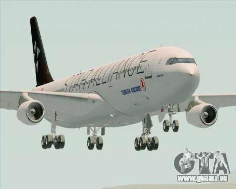 Airbus A340-311 Turkish Airlines (Star Alliance) pour GTA San Andreas vue arrière