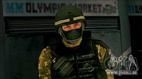 Soldier from Prototype 2 pour GTA San Andreas troisième écran