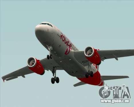 Airbus A319 Air Canada Rouge pour GTA San Andreas vue de dessus