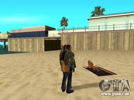 Nouveau tapis sur la plage pour GTA San Andreas quatrième écran