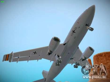 Airbus A310 MRTT Luftwaffe (German Air Force) pour GTA San Andreas vue intérieure