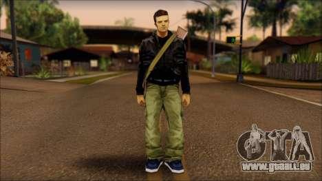 Gun and No Shades Claude für GTA San Andreas
