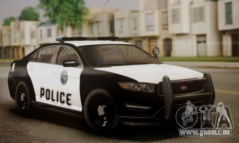 Vapid Police Interceptor from GTA V für GTA San Andreas Innen