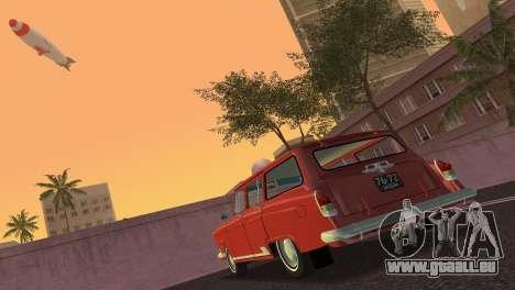 De GAZ à 22 Volga 1965 pour GTA Vice City sur la vue arrière gauche
