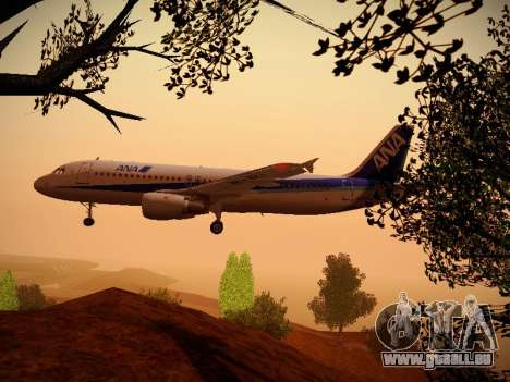 Airbus A320-211 All Nippon Airways pour GTA San Andreas salon