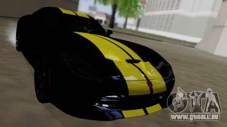 Dodge Viper SRT GTS 2013 Road version pour GTA San Andreas vue de dessus