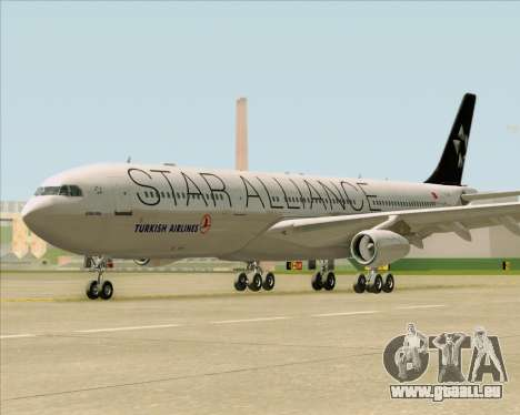 Airbus A340-311 Turkish Airlines (Star Alliance) pour GTA San Andreas vue intérieure