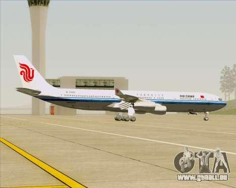 Airbus A340-313 Air China pour GTA San Andreas vue intérieure
