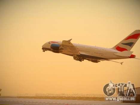 Airbus A380-800 British Airways pour GTA San Andreas salon