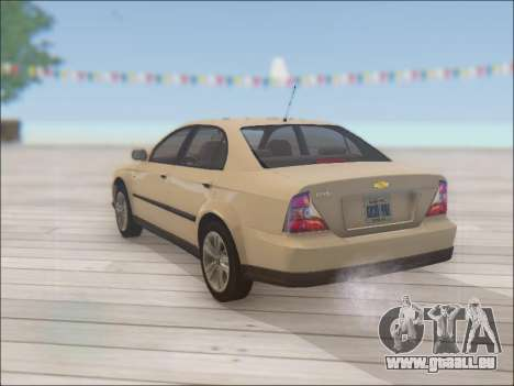 Chevrolet Evanda pour GTA San Andreas sur la vue arrière gauche