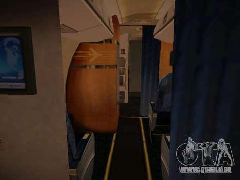 Embraer E190 TRIP Linhas Aereas Brasileira pour GTA San Andreas vue de dessus