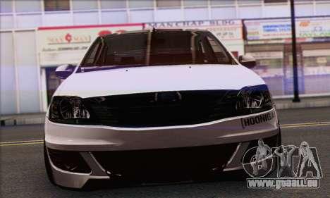 Dacia Logan Hoonigan Edition pour GTA San Andreas sur la vue arrière gauche