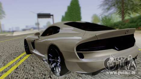 Dodge Viper SRT GTS 2013 Road version pour GTA San Andreas laissé vue