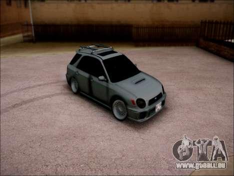 Subaru Impreza Wagon 2002 pour GTA San Andreas sur la vue arrière gauche