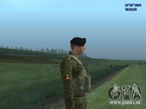 L'Officier De L'Infanterie De Marine pour GTA San Andreas quatrième écran