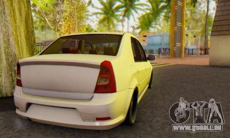 Dacia Logan White für GTA San Andreas rechten Ansicht
