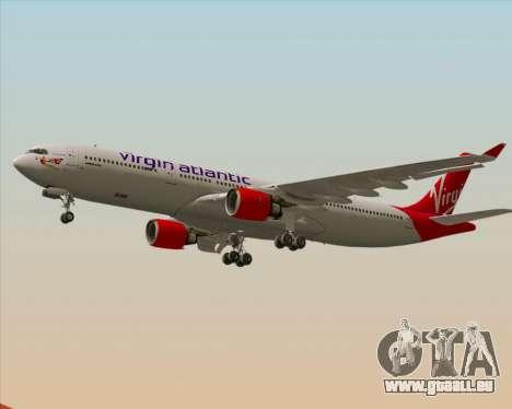 Airbus A330-300 Virgin Atlantic Airways pour GTA San Andreas vue de dessous