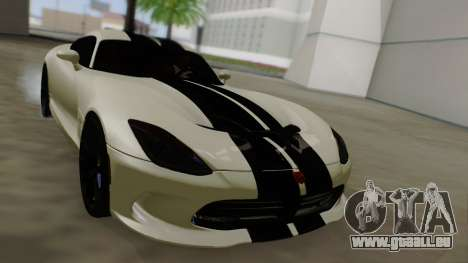 Dodge Viper SRT GTS 2013 Road version pour GTA San Andreas vue de dessous