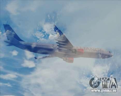Airbus A330-300 SAS (Star Alliance Livery) für GTA San Andreas obere Ansicht