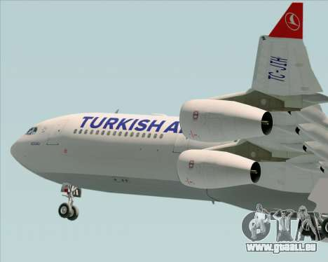 Airbus A340-313 Turkish Airlines pour GTA San Andreas vue de dessous