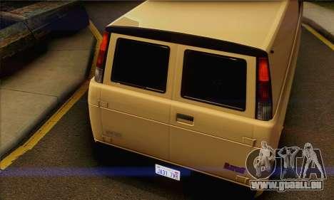 Declasse Burrito from GTA V (IVF) pour GTA San Andreas vue de droite