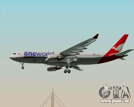 Airbus A330-200 Qantas Oneworld Livery pour GTA San Andreas vue de dessous