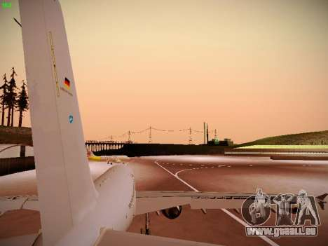 Airbus A310 MRTT Luftwaffe (German Air Force) pour GTA San Andreas vue arrière