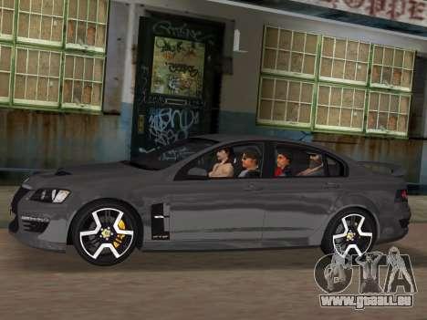 Holden HSV GTS 2011 für GTA Vice City Motor