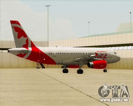 Airbus A319 Air Canada Rouge für GTA San Andreas Seitenansicht