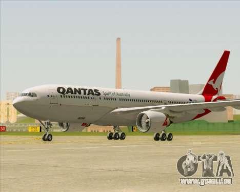 Airbus A330-200 Qantas pour GTA San Andreas sur la vue arrière gauche