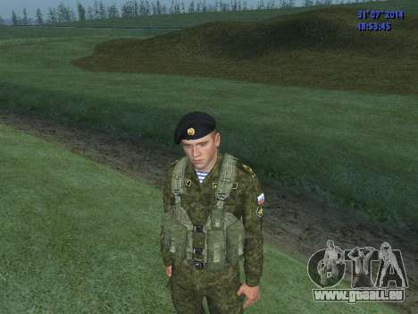 L'Officier De L'Infanterie De Marine pour GTA San Andreas deuxième écran
