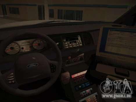 Ford Crown Victoria Toronto Police Service für GTA San Andreas Seitenansicht