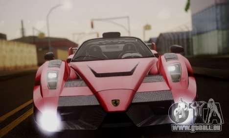 Ferrari Gemballa MIG-U1 pour GTA San Andreas vue de dessus