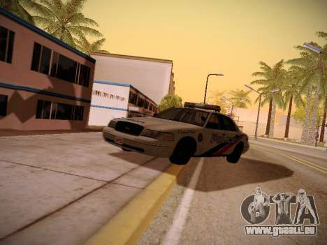 Ford Crown Victoria Toronto Police Service für GTA San Andreas Rückansicht
