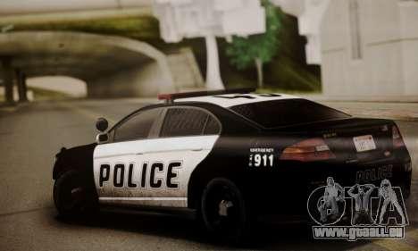 Vapid Police Interceptor from GTA V pour GTA San Andreas sur la vue arrière gauche