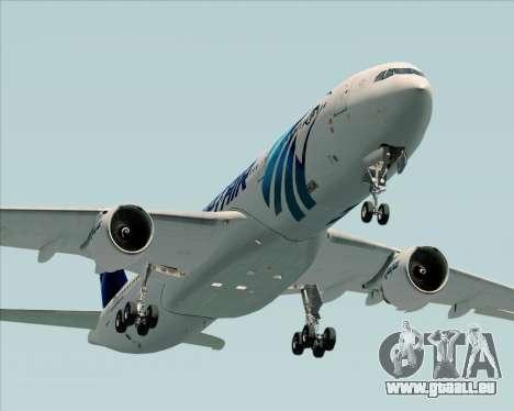 Airbus A330-300 EgyptAir für GTA San Andreas obere Ansicht