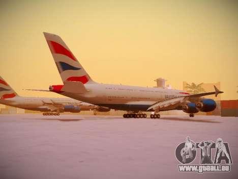 Airbus A380-800 British Airways für GTA San Andreas obere Ansicht