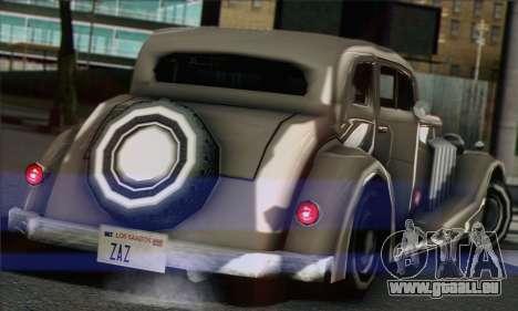 New Hustler pour GTA San Andreas sur la vue arrière gauche
