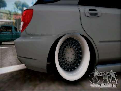 Subaru Impreza Wagon 2002 pour GTA San Andreas vue de droite
