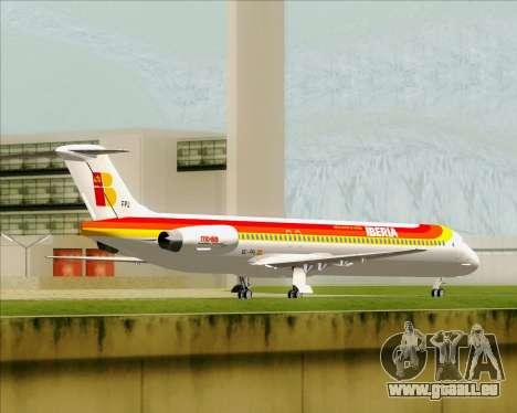 McDonnell Douglas MD-82 Iberia für GTA San Andreas Rückansicht
