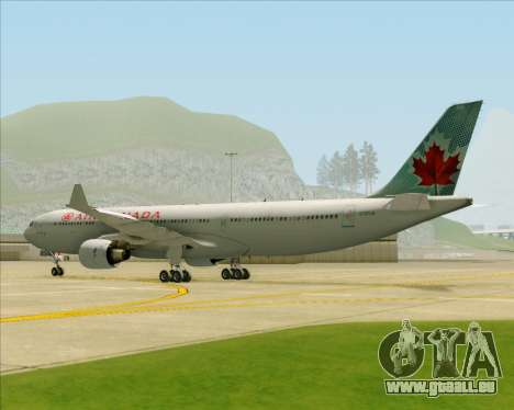 Airbus A330-300 Air Canada pour GTA San Andreas vue arrière