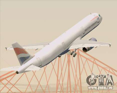 Airbus A321-200 British Airways pour GTA San Andreas