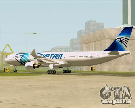 Airbus A330-300 EgyptAir für GTA San Andreas rechten Ansicht
